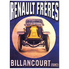 Renault Freres Ad Poster Deco FRIDGE MAGNET, Automobile Motor Mini Gift
