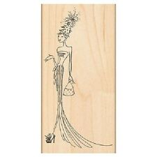 PENNY BLACK RUBBER STAMPS CHRISTMAS GORGEOUS LADY NEW 2012 STAMP