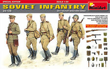 MiniArt SOVIET  INFANTRY FIGURES W/ WEAPONS AND EQUIPMENT model kit 1/35