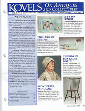 Kovels on Antiques and Collectibles Newsletter May 2000 Decoys Kathe Kruse Dolls