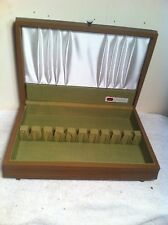 1847 Rogers Bros Wooden Wood Silverplate Flatware Chest Box Case Only
