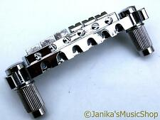 Chrome silver electric guitar wraparound bridge hard tail wrap around- UK SELLER