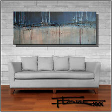 ABSTRACT MODERN CANVAS PAINTING CONTEMPORARY WALL ART  60x24 US artist ELOISExxx