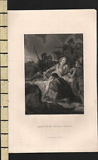C1830 géorgiens print ~ dea th de sir philip sidney ~