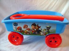 NEW PAW PATROL PULL TOW ALONG GARDEN CART WAGON TOY NICK JUNIOR CHASE RED BLUE