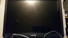 """Sony Vaio vgn-fs810/w SCHERMO COMPLETO 15.4"""", lunetta, coperchio, cerniere, cavi... Testato"""