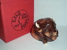 KEVIN FRANCIS FACE POTS RARE GOLD MARK JULES THE BISON In Box w/Cert UK MADE