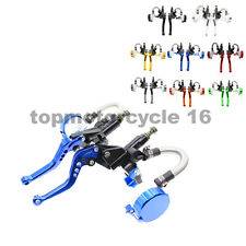 FXCNC Brake Levers Master Cylinder Reservoir Set For Universal Motorcycle 7/8''