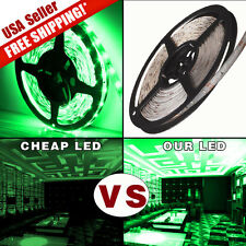Waterproof Super Bright 5M 300 LED 3528 SMD Green Flexible Strip Light DC 12V US