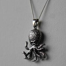 Collar Colgante de plata esterlina Pulpo por lepos Jewellery