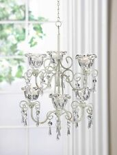 CRYSTAL BLOOM DOUBLE CHANDELIER FACETED JEWELS HANGDOWN.FAB. BUY