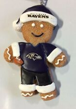 Baltimore Ravens Gingerbread Man Christmas Ornament FREE SHIP