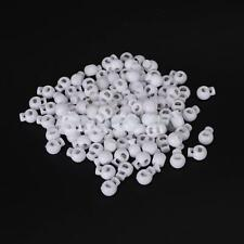 100± White Plastic Round Ball Cordlock Cord Lock End Stop Toggles Stopper
