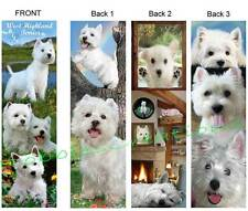 3 Set-WEST HIGHLAND White TERRIER BOOKMARKS WESTIE Dog Book Mark Card ART Puppy