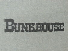BUNKHOUSE Wall Word Western Style Wall Hanging Decor Sign