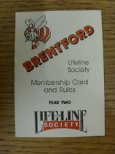 1987 Brentford: Official Membership Card & Rules, Used. Thanks for viewing this
