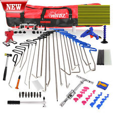 82x PDR Hail Removal Dent Puller Rods Kit Paintless Repair Hammer & Wedge Tools