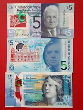 Polymer banknotes from the three Scottish banks  Uncirculated.