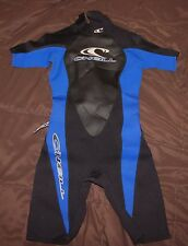 O'neill women's shorty spring wetsuit wet suit 2.1 mm size 8 black blue