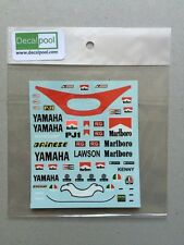 1/12 Yamaha YZR500 Marlb0r0 '1983 K. Robert / E. Lawson Rider Decal for Tamiya