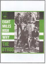 BYRDS  POSTER,  8 Miles High. Psychedelia.