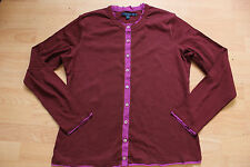 BODEN burgundy cotton  cardigan size 14  NEW