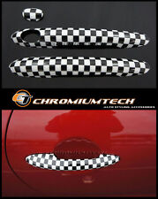Chequered Flag Door Handle Covers for 2014 up MK3 F56 MINI Cooper/S/ONE RHD NEW!