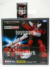 TAKARA Transformers Masterpiece MP-33 INFERNO with EXCLUSIVE METAL MINI OPTIMUS