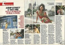 "Coupure de presse Clipping 1990 Holly Robinson ""Jump Street""  (2 pages)"