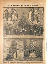 Arbre de Noël la Vie Féminine Galerie Excelsior Paris Gare St-Lazare WWI 1914
