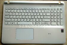 New US keyboard SONY Vaio Fit SVF152C SVF153 svf152c29x touchpad cover white