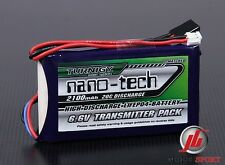 Nano-tech 2100mAh 2S 6.6 v LiFe TX RX Battery pack FITS Futaba T14SG & 4PK