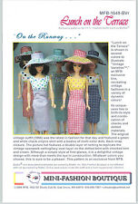 Vintage Repro Pattern LUNCH ON THE TERRACE 4 Barbie Fashion Royalty MFB RUNWAY