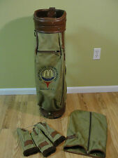 Vintage Burton MCDONALD'S CHAMPIONSHIPS Canvas Golf Bag w/Headcovers Rain Cover