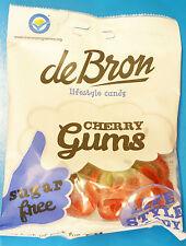Cherry Gums De Bron Sugar Free Jelly Sweets 90g Suitable for Diabetics