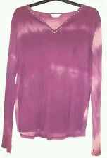 Evans Essence ladies top size 18 /20 burgandy