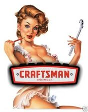 CRAFTSMAN MADE IN USA SEXY LADY TOOL BOX / BUMPER STICKER / DECAL