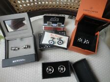 Car racing/Auto cuff link lot of 4 Ben Sherman Simon Carter and more.....