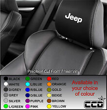JEEP CAR SEAT / HEADREST DECALS - Vinyl Stickers - Graphics Logo badge X5