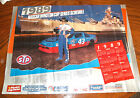 Richard Petty 1989 Nascar Poster FRONT OF THE USS NORTH CAROLINA AUTOGRAPHED