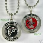 FALCONS SILVER TONE LOGO SPINNER BALL CHAIN NECKLACE