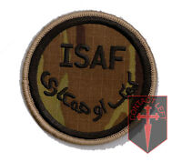 Official Multicam / MTP ISAF Velcro Backed Arm Patch Badge - Afghanistan Iraq