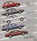 1988 Subaru Catalog Brochure Full Line
