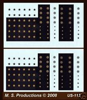 1/144 Decals US-112 US Stars Black & Yellow for AFVs