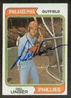 Del Unser signed autographed Topps Trading Card