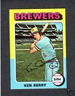 1975 Topps MINI #432 Ken Berry BREWERS Ex- mint +