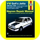 Repair Manual Book VW Golf Jetta GTI Cabrio Volkswagen