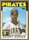 BARRY BONDS 1986 86 TOPPS TRADED PITTSBURGH PIRATES CARD #11T  --  FREE S/H  **