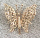 Gorgeous Vintage Monet Filigree Butterfly Brooch Pin