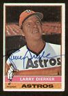 Larry Dierker signed autograph 1976 Topps Baseball Card